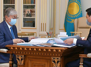 President receives Mayor of Nur-Sultan