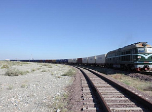 First freight long train arrived in Kazakhstan from China