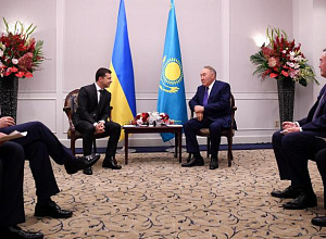 Nursultan Nazarbayev meets with Zelensky in Japan
