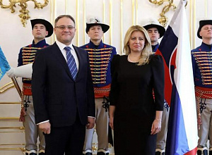 President of Slovakia accepted credentials from Kazakh ambassador