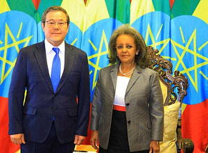 President of Ethiopia accepted credentials from Kazakh Ambassador