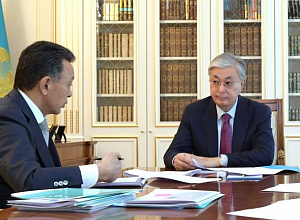Tokayev discussed railway development with Chairman of KTZh Board